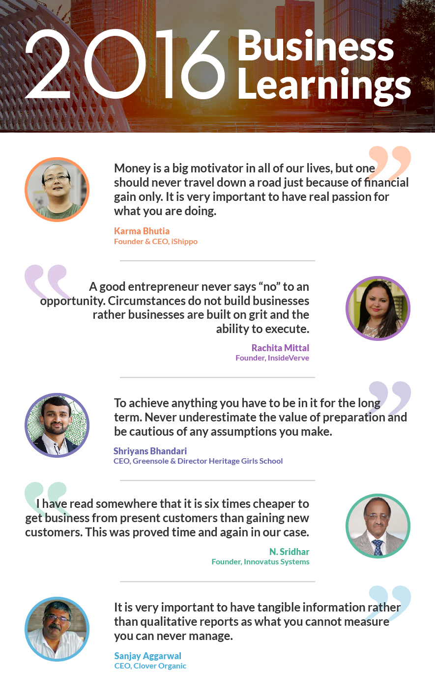 Entrepreneurs share their learnings from the year that was