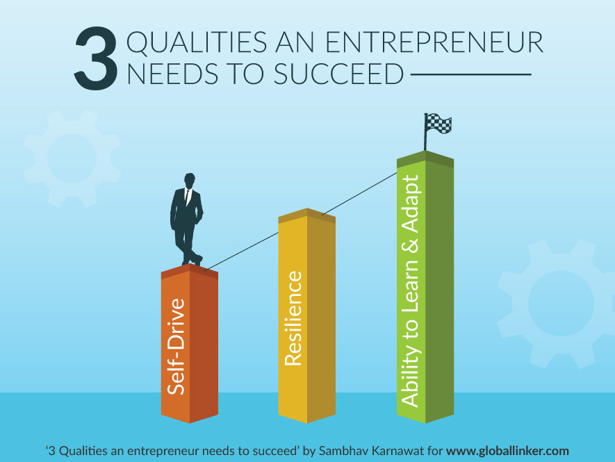 3 Qualities an entrepreneur needs to succeed