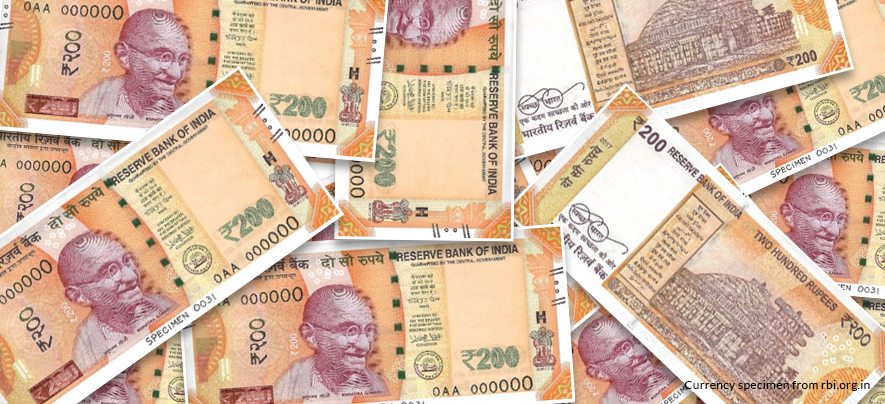 INR 200 notes to be introduced from August 25