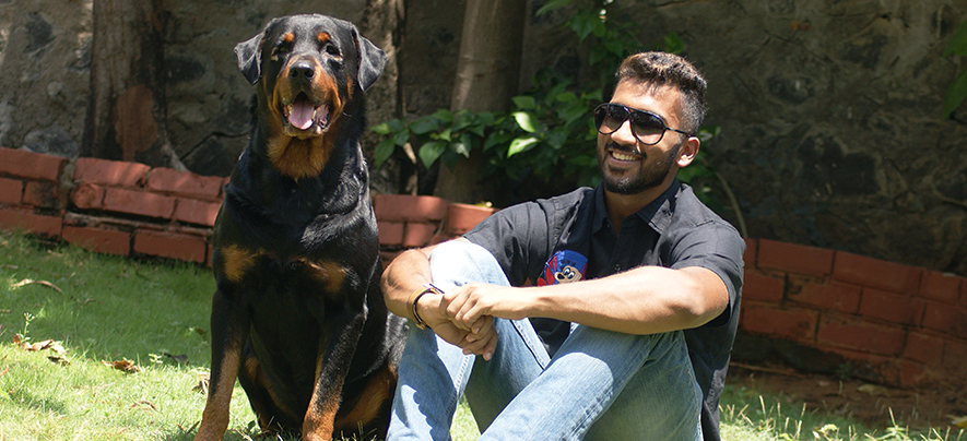 Young entrepreneur is achieving success with his boarding shelters for dogs