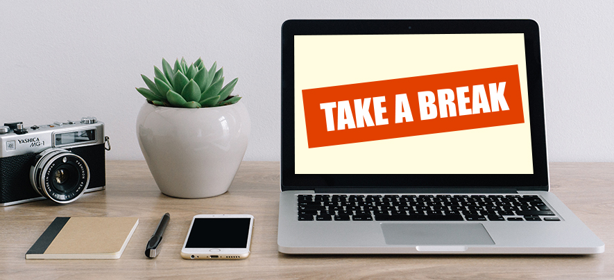 Why is it important for entrepreneurs to take a break?