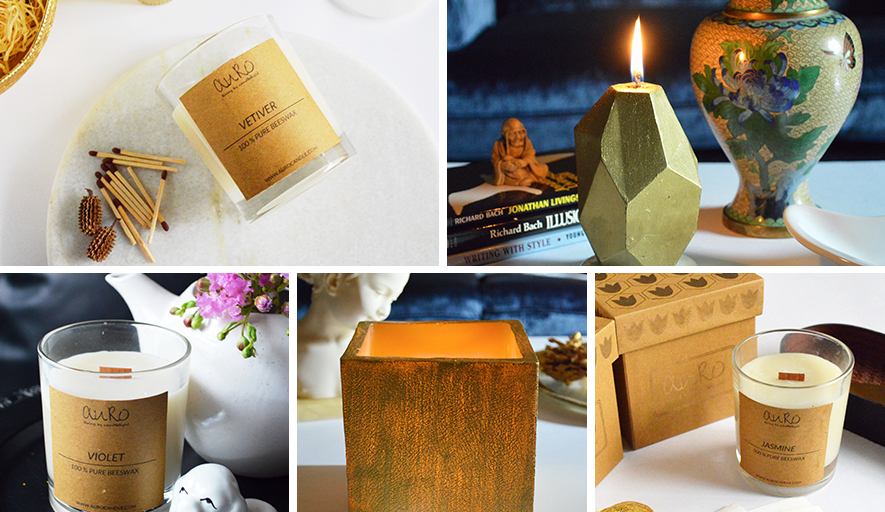 Lighting up homes with all natural scented candles
