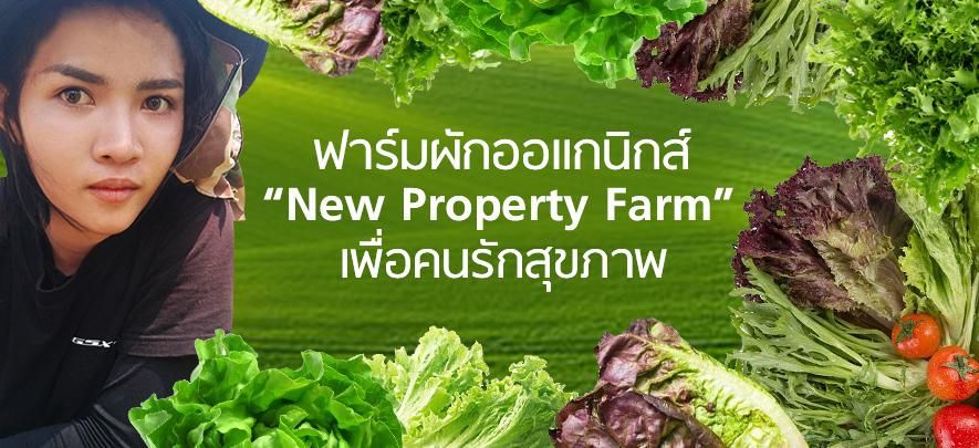 ฟาร์มผักออแกนิกส์เพื่อคนรักสุขภาพ New Property Farm โดย นรินทร์ธัช รดาชยศพัฒน์