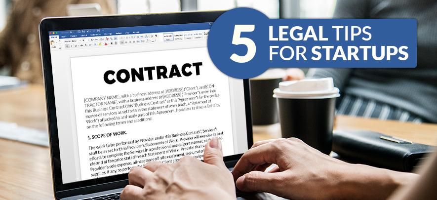5 legal tips for start-ups