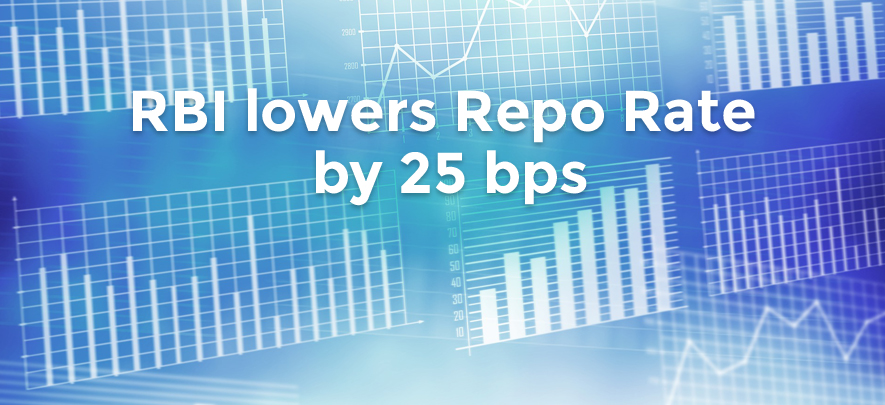 RBI lowers repo rate by 25 bps in first cut since August 2017