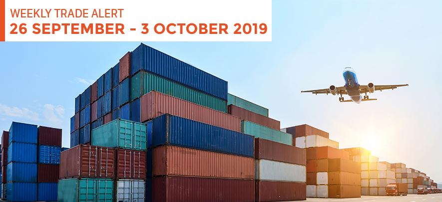 Weekly Trade Alert: 26 September - 3 October