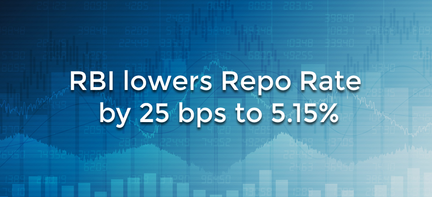 RBI reduces repo rate for fifth time this year, GDP forecast lowered