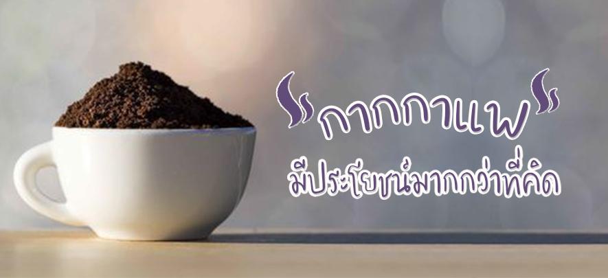 กากกาแฟ มีประโยชน์มากกว่าที่คิด