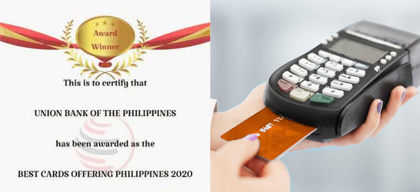 UnionBank awarded Best Cards Offering Philippines 2020