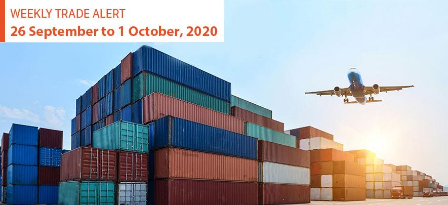 Weekly Trade Alert: 26 September – 1 October