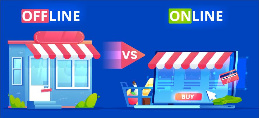 Offline store vs Online store