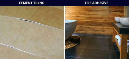 Cement vs Tile Adhesive for laying tiles