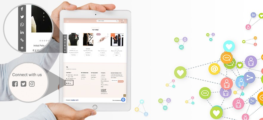 How to integrate social media handles into your online store