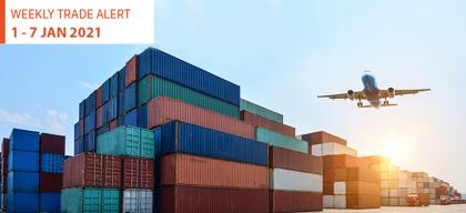 Weekly Trade Alert: 1 – 7 January