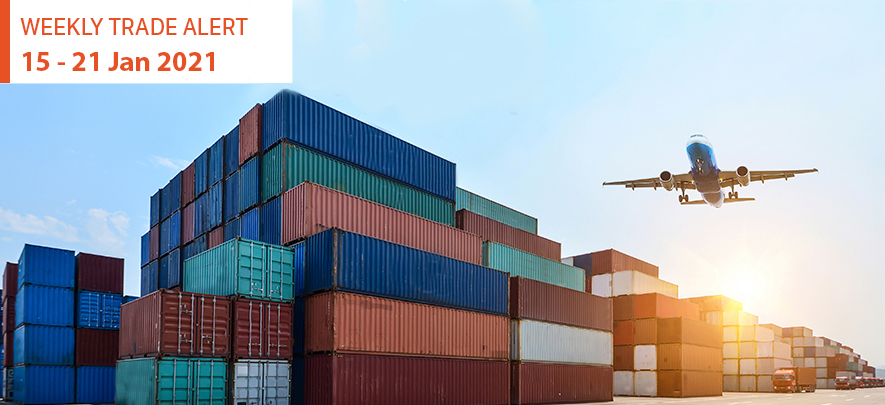 Weekly Trade Alert: 15  – 21 January