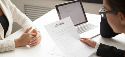 Create a resume that cuts across pages