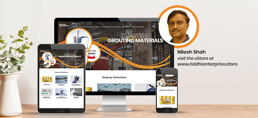 Riddhi Enterpise – a construction and waterproofing material company believes an online presence is a must for every business