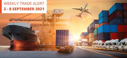 Weekly Trade Alert: 3 – 8 September